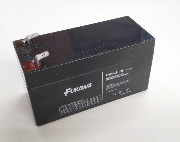 Akumulátor olověný gelový Fukawa 12V 1,2Ah Pb - faston 4,8 mm