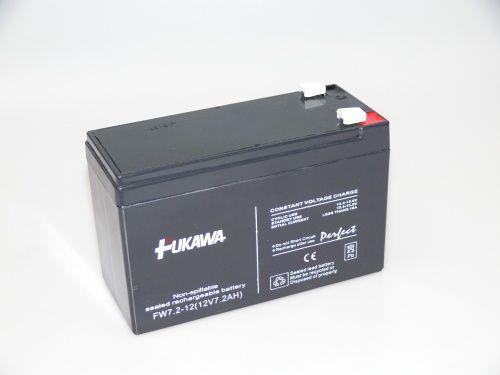 Akumulátor olověný gelový Fukawa 12V 7,2Ah Pb - faston 6.35mm
