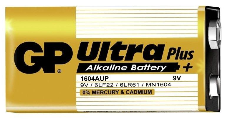 Alkalická baterie 9V blistr GP Ultra Plus Alkaline GP Batteries