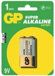 Alkalická baterie 9V GP Super Alkaline - blistr