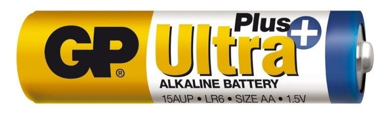 Alkalická baterie AA, LR6, blistr 2 GP Ultra Plus Alkaline GP Batteries