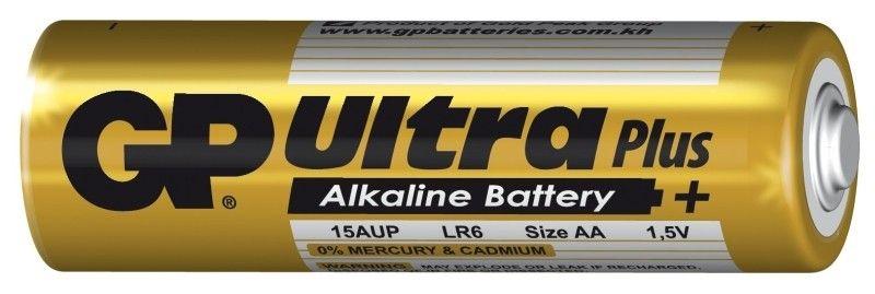 Alkalická baterie AA, LR6, blistr 4 GP Ultra Plus Alkaline GP Batteries