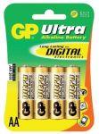 Alkalická baterie AA, LR6, tužka, blistr 4  GP Ultra Alkaline