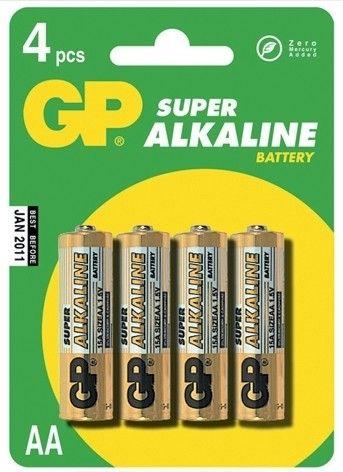 Alkalická baterie AA, LR6, tužka, blistr GP Super Alkaline GP Batteries