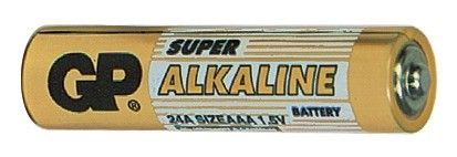 Alkalická baterie AAA, LR03, mikrotužka GP Super Alkaline GP Batteries