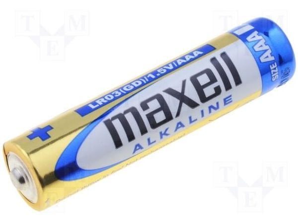 Alkalická baterie AAA, LR03, mikrotužka Maxell Alkaline