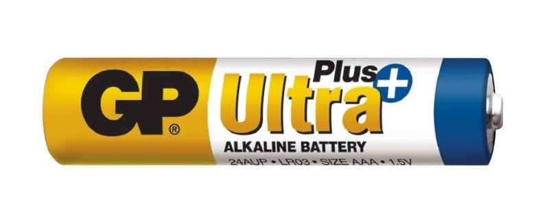 Alkalická baterie AAA, R03, blistr 2 GP Ultra Plus Alkaline GP Batteries