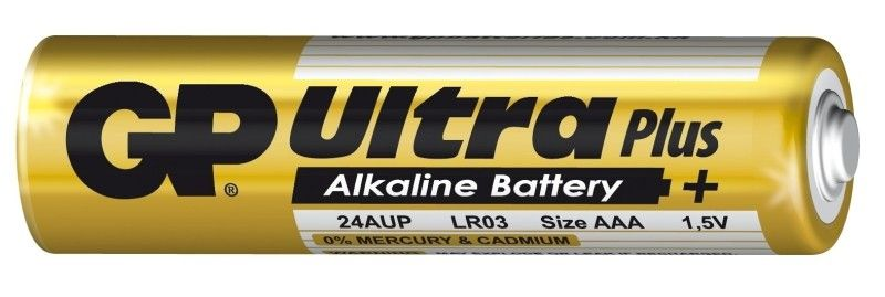 Alkalická baterie AAA, R03, blistr 4 GP Ultra Plus Alkaline GP Batteries