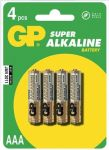 Alkalická baterie AAA, R03, mikrotužka, blistr GP Super Alkaline
