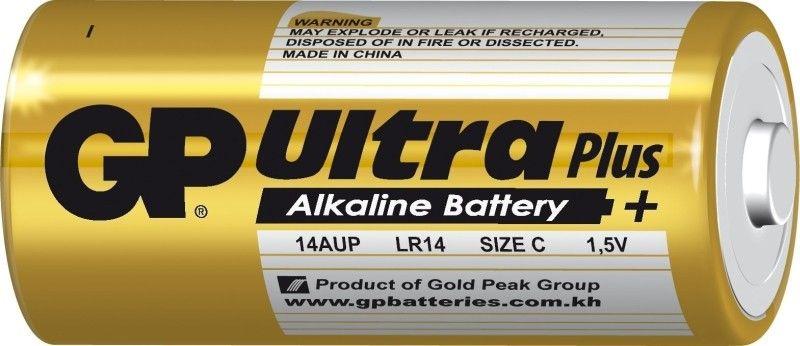 Alkalická baterie C, LR14 blistr GP Ultra Plus Alkaline GP Batteries