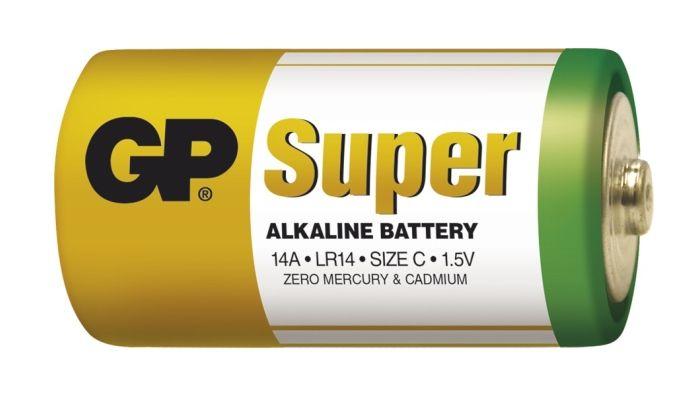 Alkalická baterie C, LR14, malé mono, blistr GP Super Alkaline GP Batteries