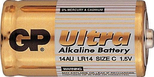 Alkalická baterie C, LR14, malé mono GP Ultra Alkaline GP Batteries