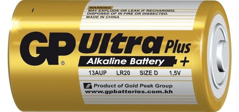 Alkalická baterie D, LR20 blistr GP Ultra Plus Alkaline GP Batteries