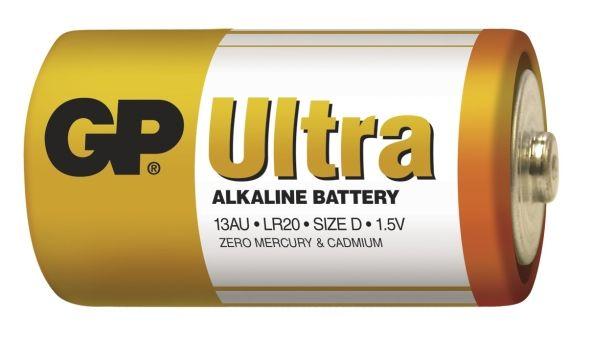 Alkalická baterie D, LR20, velké mono, blistr GP Ultra Alkaline GP Batteries