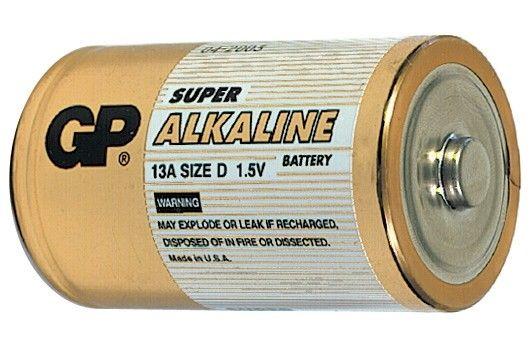 Alkalická baterie D, LR20, velké mono GP Super Alkaline GP Batteries