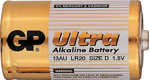 Alkalická baterie D, LR20, velké mono GP Ultra Alkaline GP Batteries