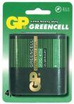 Baterie 4,5V plochá GP Greencell - blistr