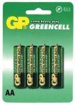 Baterie AA, LR6, tužka GP Greencell - blistr