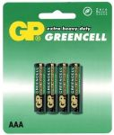 Baterie AAA, R03, mikrotužka GP Greencell - blistr