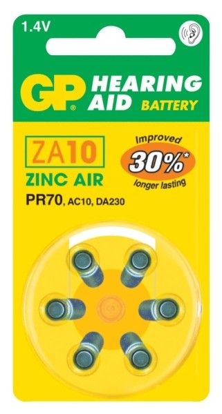 Baterie do naslouchadla ZA10 GP GP Batteries