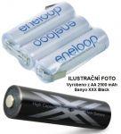 Baterie Panasonic Eneloop AA 2500mAh XXX Black HR3-UWX - 3,6V - páskové vývody