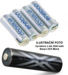 Baterie Panasonic Eneloop AA 2500mAh XXX Black HR3-UWX - 4,8V - páskové vývody
