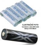 Baterie Panasonic Eneloop AA 2500mAh XXX Black HR3-UWX - 6V - páskové vývody
