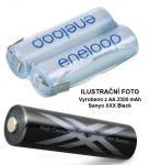 Baterie Panasonic Eneloop AA 2500mAh XXX Black HR3-UWX - 2,4V - páskové vývody