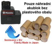 Baterie pro Metabo 30066000, 31724000, 12V - 2000 mAh - akublok Panasonic