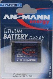 Lithiová fotobaterie 2CR5 1300mAh, 6V-Ansmann Sanyo / Panasonic