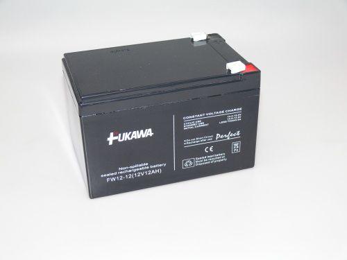 Olověný gelový akumulátor 12V / 12Ah, rozměr 151 x 98 x 94 mm Fukawa