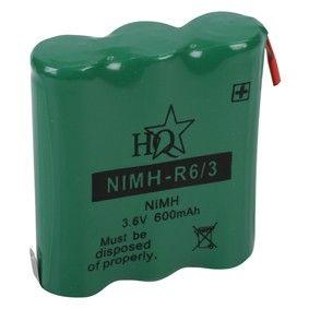 Akumulátor s vývody 3,6V - 600mAh - Ni-MH Kinetic