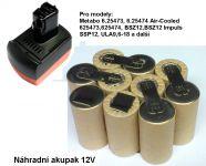 Baterie pro Metabo BS 12 SP, 12V - 1700 mAh - akublok články Panasonic