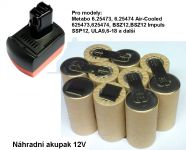 Baterie pro Metabo BS 12 SP, 12V - 2000 mAh - akublok články Panasonic