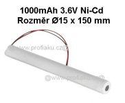 Baterie pro nouzová světla Ni-Cd 3,6V 1000mAh SAFT